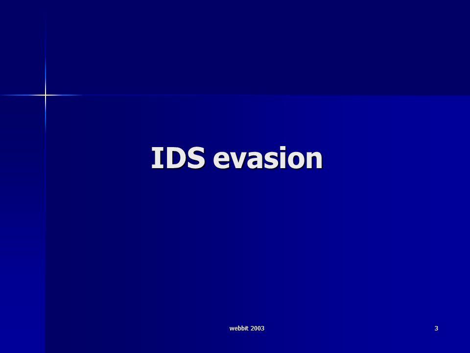 webbit 2003 3 IDS evasion