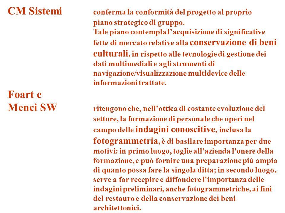 CM Sistemi conferma la conformità del progetto al proprio piano strategico di gruppo.
