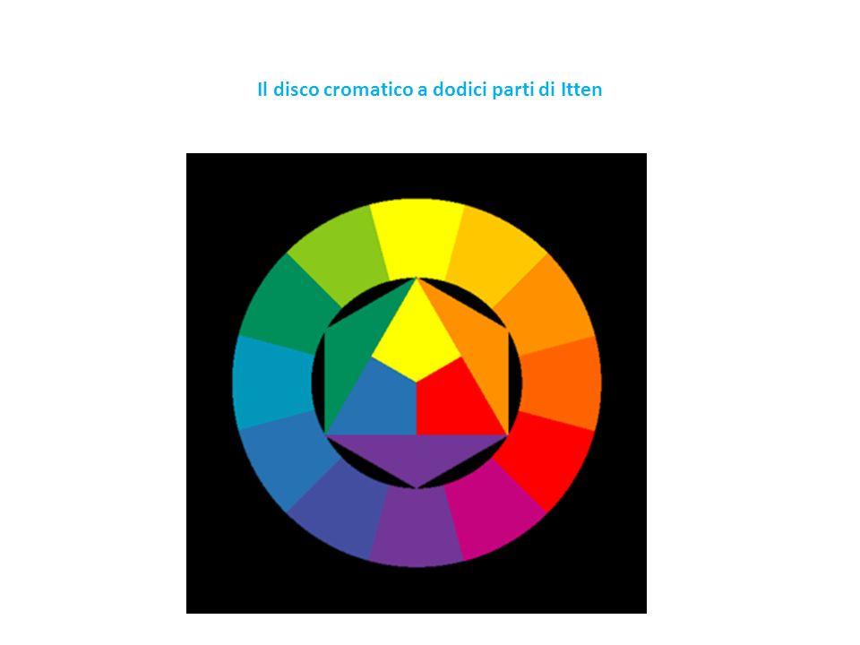 Stella cromatica a dodici parti Rappresenta le gradazioni dei colori primari, secondari e terziari tagliati col bianco verso il centro della stella e col nero verso lestremità.