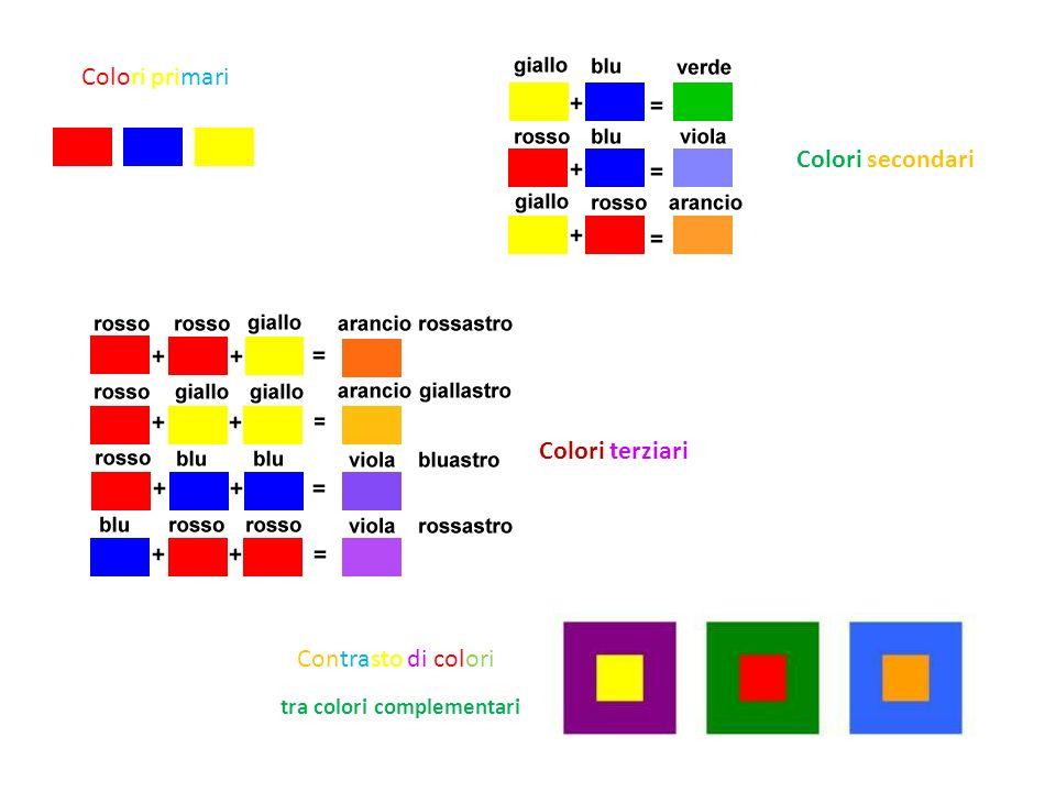 tra colori complementari Contrasto di colori Colori terziari Colori secondari Colori primari