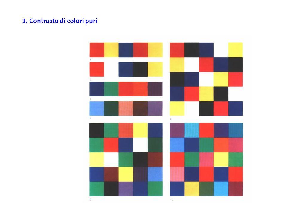 La figura rappresenta le principali direzioni da seguire per accordare fra di loro due colori opposti.