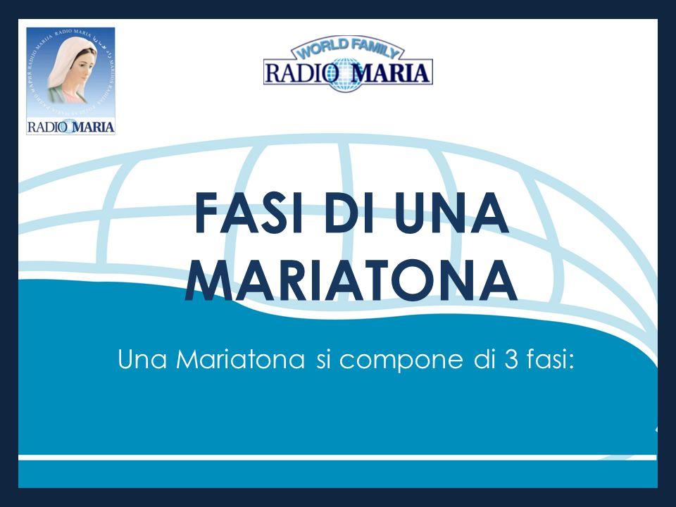 FASI DI UNA MARIATONA Una Mariatona si compone di 3 fasi: