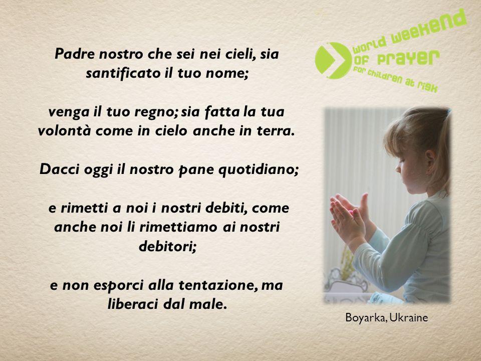Preghiamo per bambini in situazioni di vulnerabilità … «L amato dell Eterno abiterà sicuro presso di lui.