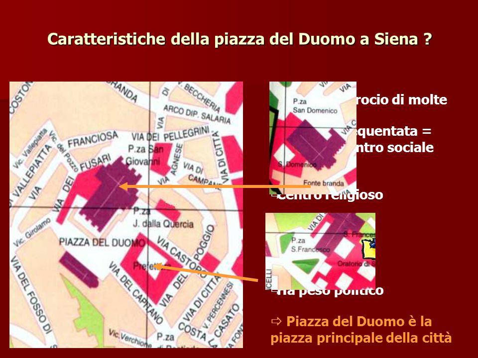 Caratteristiche della piazza del Duomo a Siena .
