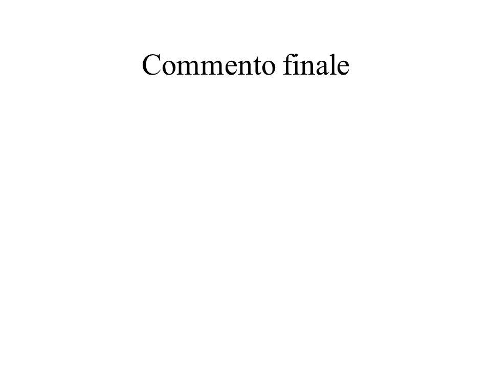 Commento finale