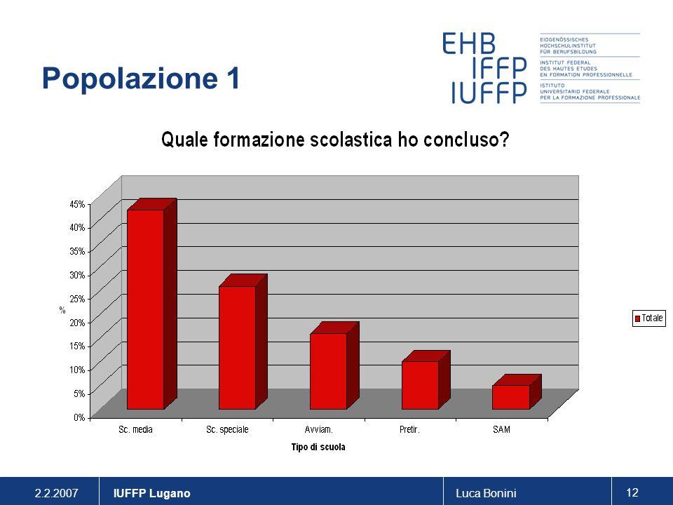 2.2.2007Luca Bonini 12 IUFFP Lugano Popolazione 1