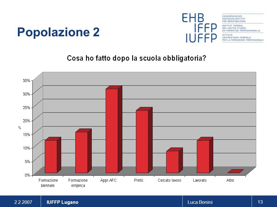 2.2.2007Luca Bonini 13 IUFFP Lugano Popolazione 2