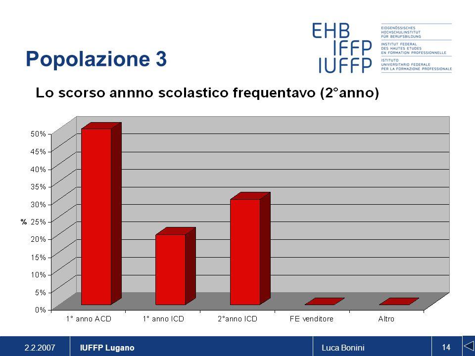 2.2.2007Luca Bonini 14 IUFFP Lugano Popolazione 3