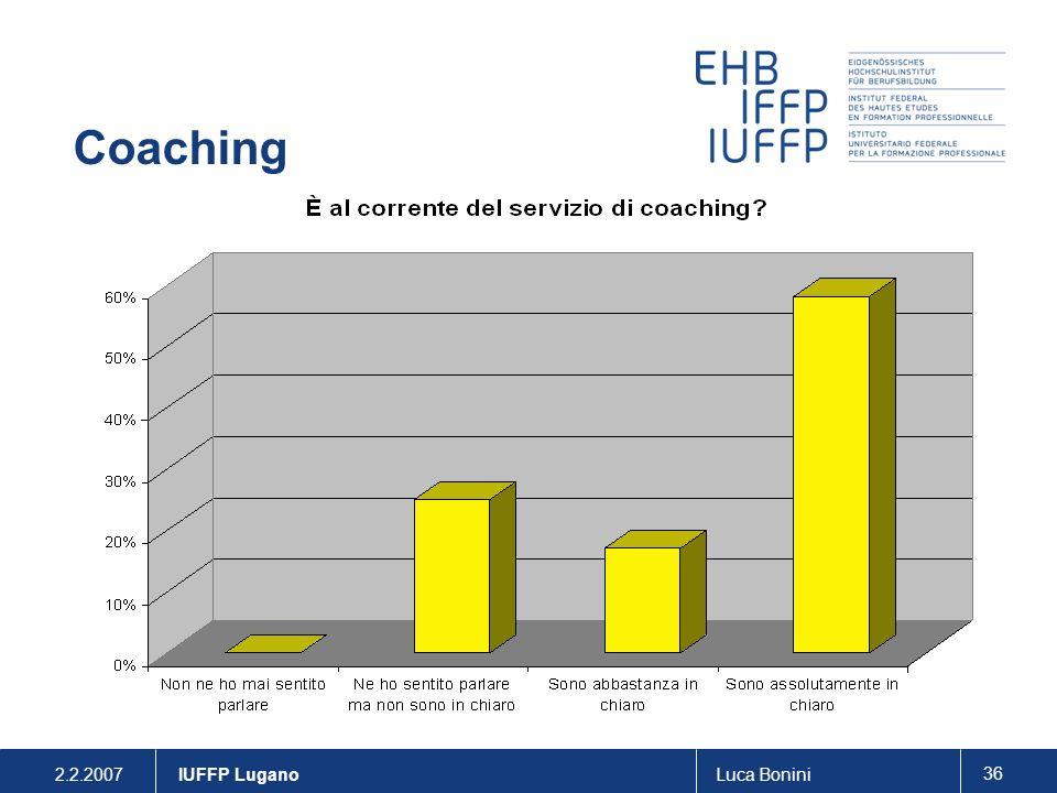 2.2.2007Luca Bonini 36 IUFFP Lugano Coaching