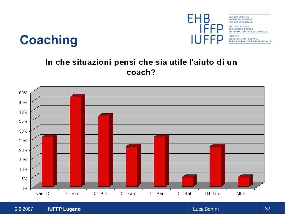 2.2.2007Luca Bonini 37 IUFFP Lugano Coaching