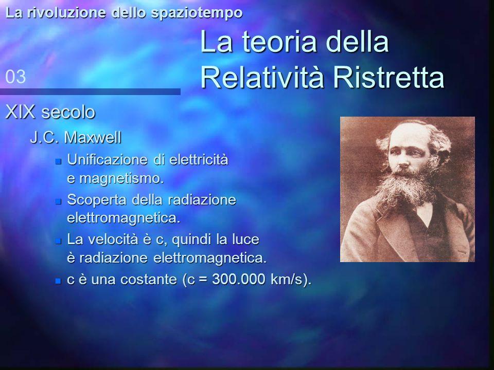 Le grandi teorie della fisica del Novecento RR 1916 1905 RG 1900-1930 MQ 1940-1960 TQC ToE? 02 XXI secolo