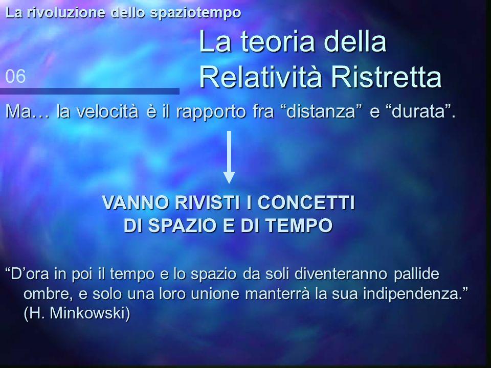 La teoria della Relatività Ristretta 1905, Albert Einstein: la relatività ristretta 05 La rivoluzione dello spaziotempo –Il –Il principio di relativit
