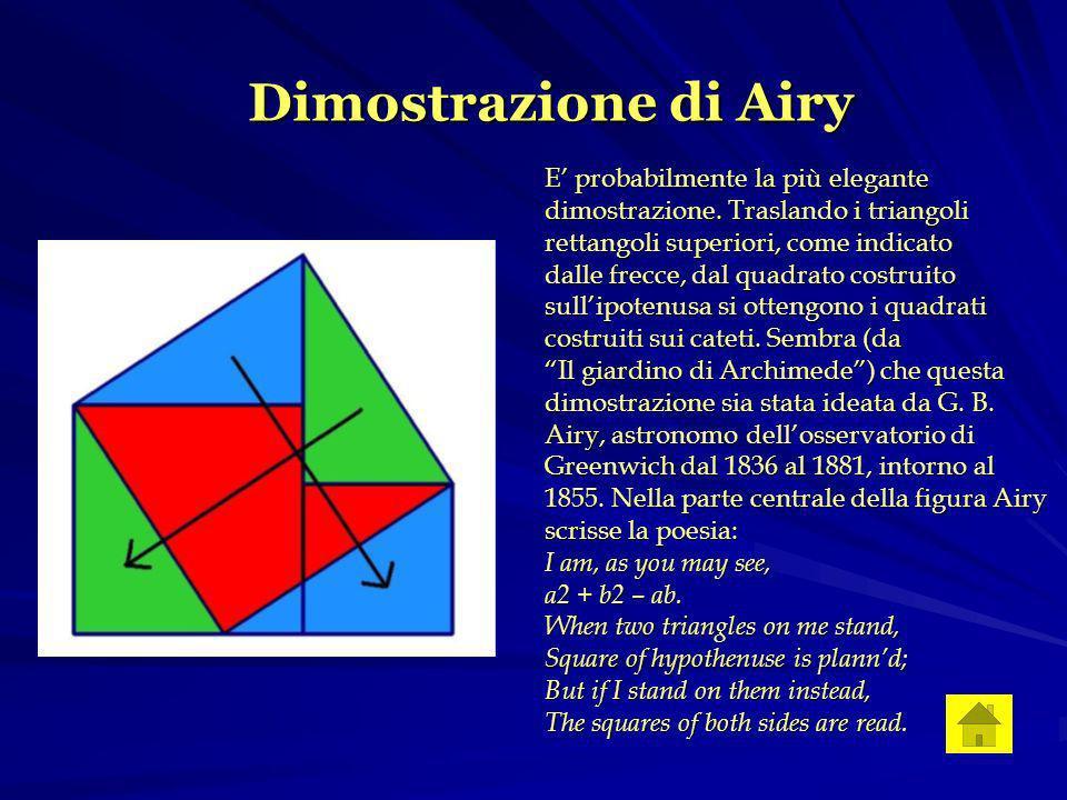 Dimostrazione di Airy E probabilmente la più elegante dimostrazione.