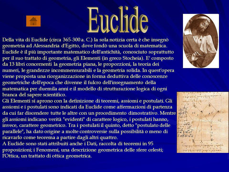 Della vita di Euclide (circa 365-300 a.