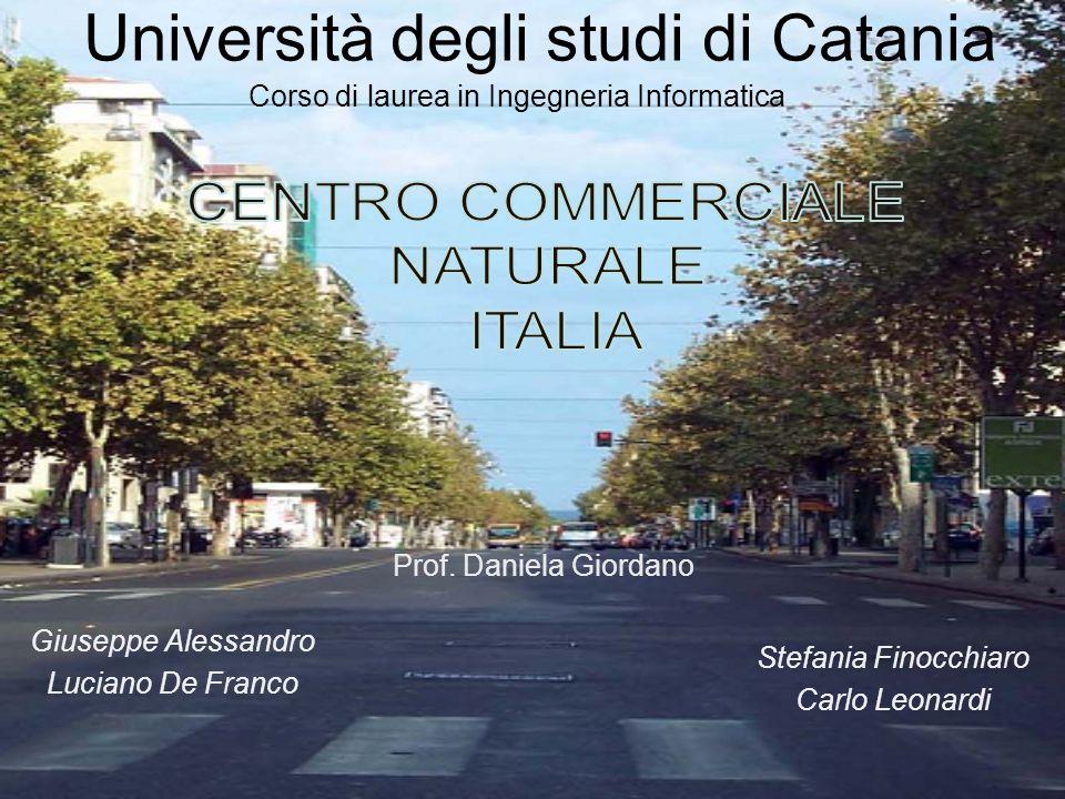 Corso di laurea in Ingegneria Informatica Università degli studi di Catania Prof. Daniela Giordano Giuseppe Alessandro Luciano De Franco Stefania Fino
