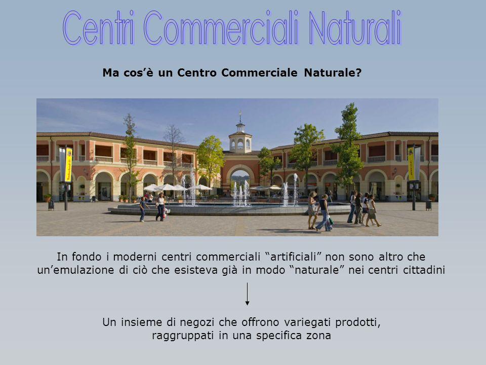Ma cosè un Centro Commerciale Naturale? In fondo i moderni centri commerciali artificiali non sono altro che unemulazione di ciò che esisteva già in m