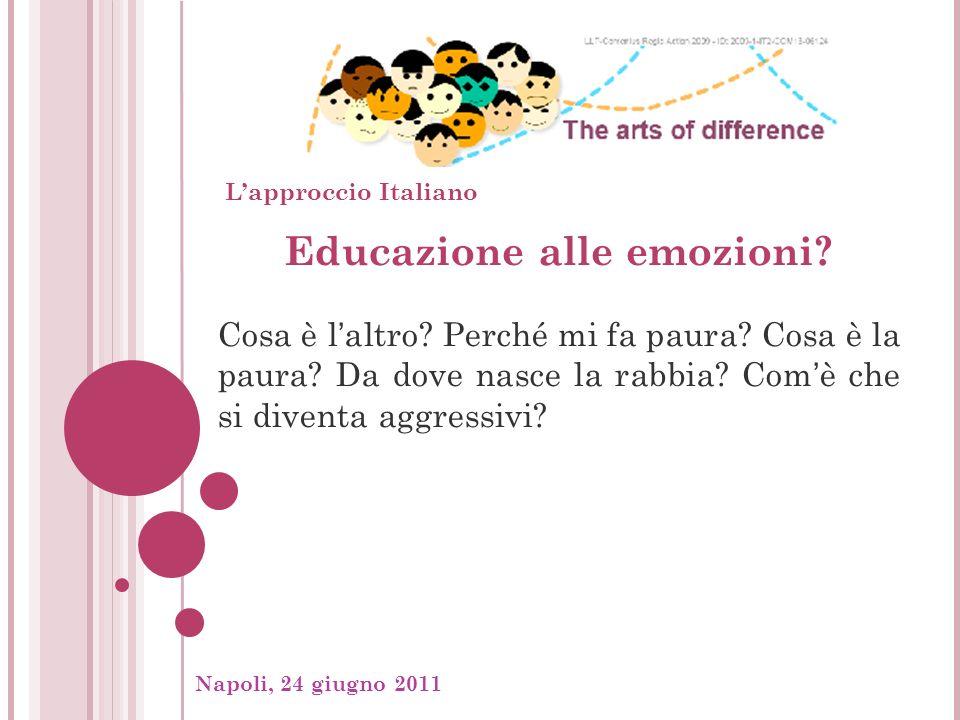 Napoli, 24 giugno 2011, Educazione alle emozioni. Cosa è laltro.