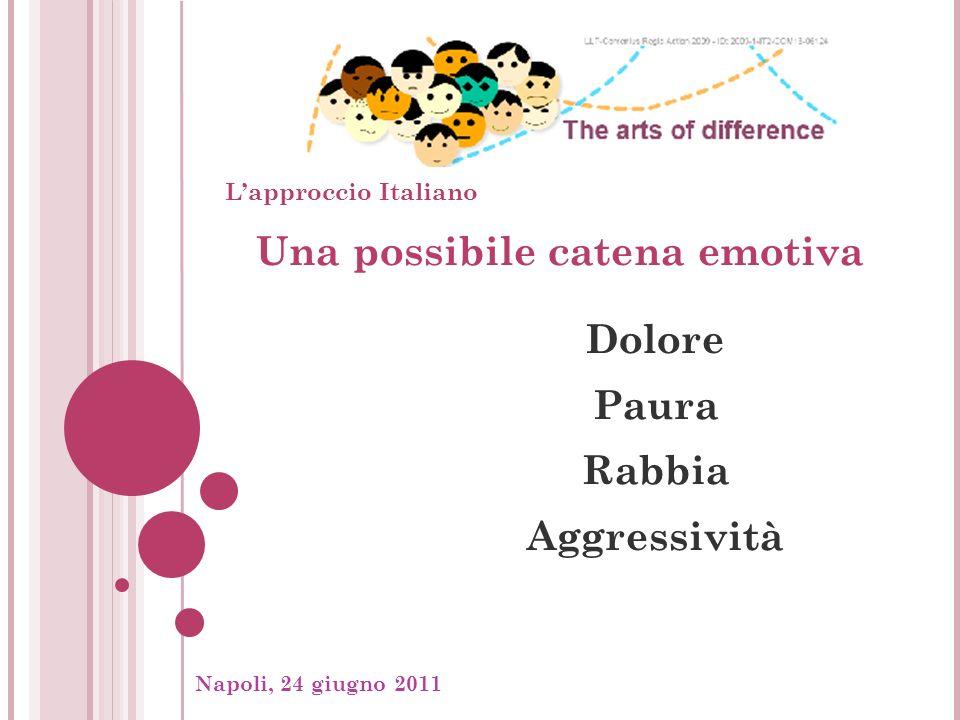 Napoli, 24 giugno 2011, Una possibile catena emotiva Dolore Paura Rabbia Aggressività Lapproccio Italiano