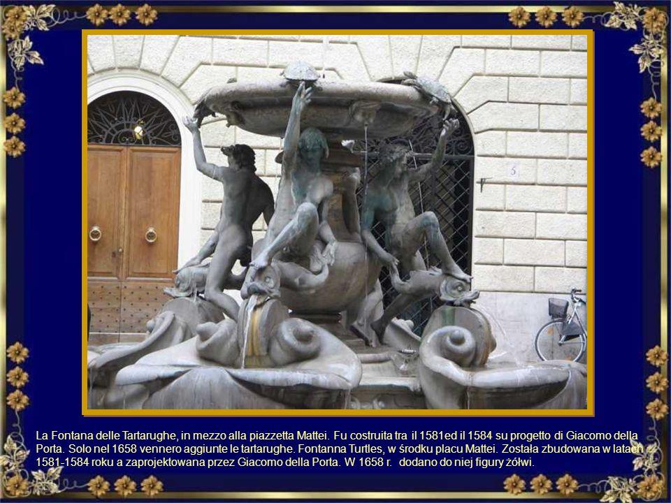 Fontana di fronte a Santa Maria in Cosmedin (alla Bocca della Verità). Fontanna przed kościołem Santa Maria in Cosmedin ( w przedsionku kościoła - Ust