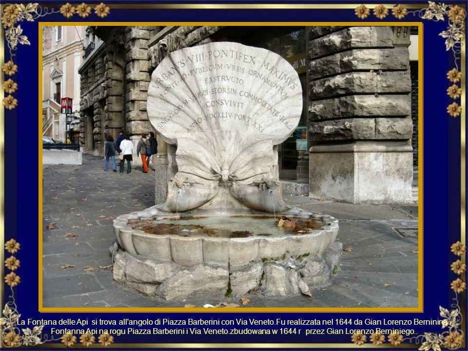 La Fontana delle Anfore di Pietro Lombardi è situata a piazza dell'Emporio a Testaccio Fontanna Amfor (Fontana delle Anfore) wykonana przez Pietro Lom