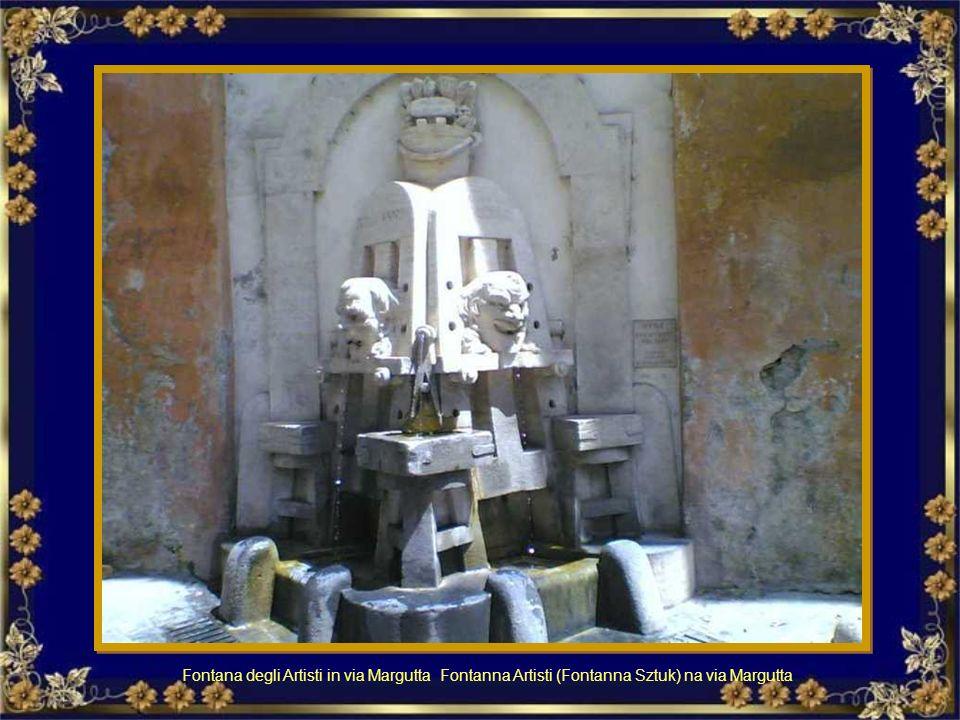La Fontana delle Api si trova all'angolo di Piazza Barberini con Via Veneto.Fu realizzata nel 1644 da Gian Lorenzo Berninina Fontanna Api na rogu Piaz