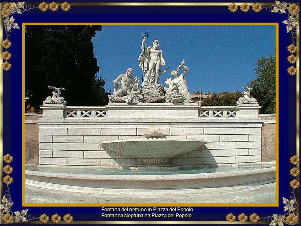Fontana della Dea Roma in Piazza del Popolo