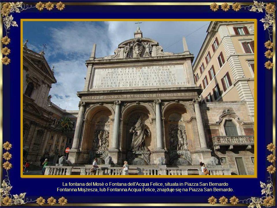 La Fontana di Trevi è il punto terminale dell'antico acquedotto dell'Acqua Vergine fatto costruire da Agrippa. Fontanna di Trevi. Zasila ją woda dopro