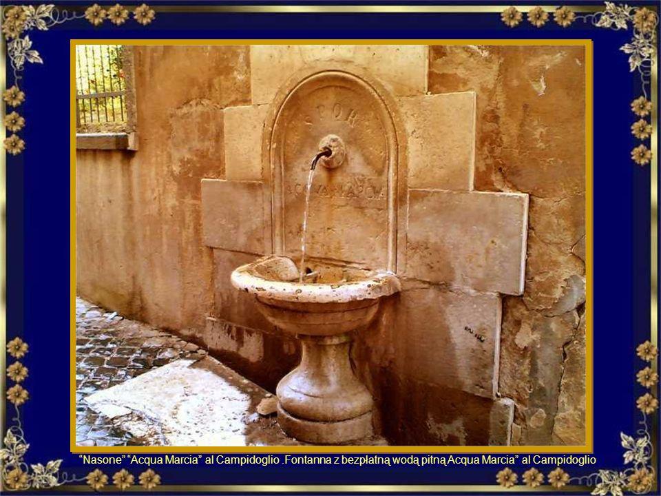 Nasone delle Tiare – Largo del colonnato. Fontanna z bezpłatną wodą pitną delle Tiare Ed ora alcuni nasoni (fontanelle) A teraz kilka nasoni (fontanny
