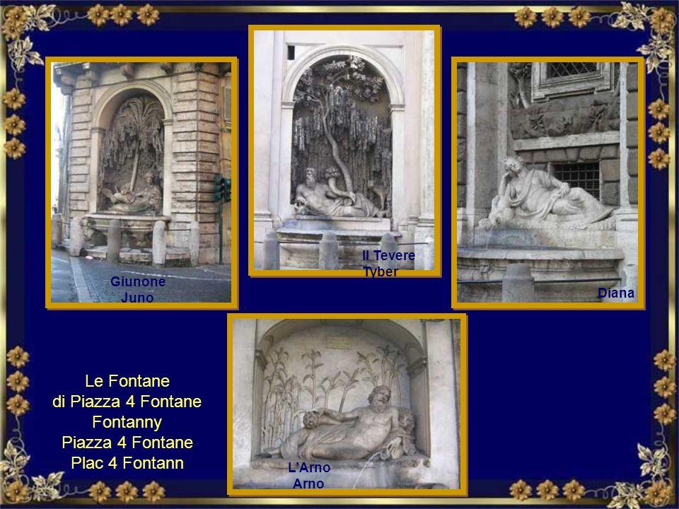 Di origine antica sono le due fontane di Piazza Farnese. Le due vasche provengono dalle Terme di Caracalla. Dwie pochodzenia starożytnego fontanny na