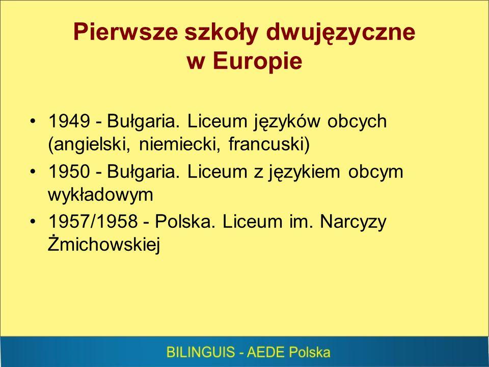 Pierwsze szkoły dwujęzyczne w Europie 1949 - Bułgaria.
