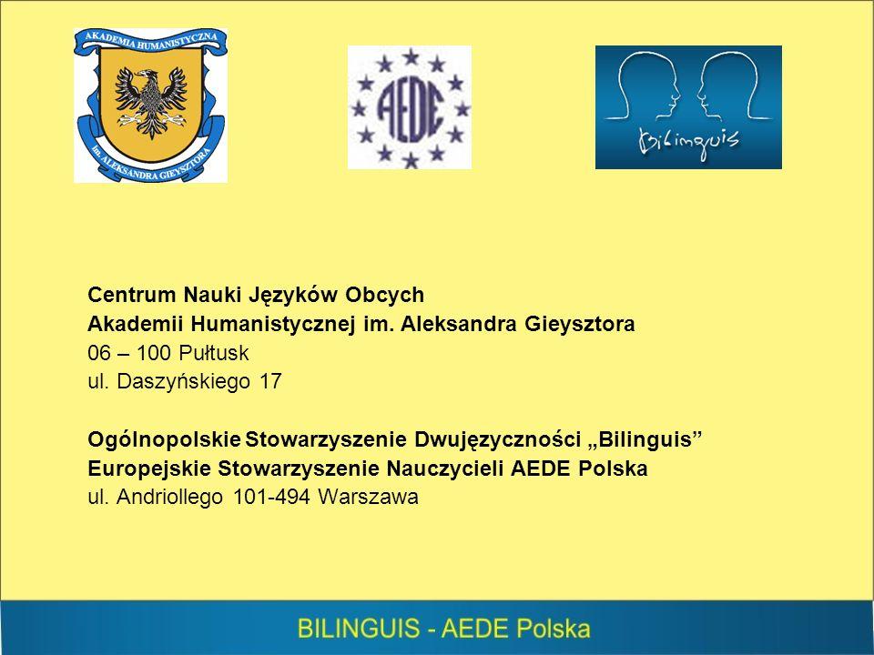 Centrum Nauki Języków Obcych Akademii Humanistycznej im.
