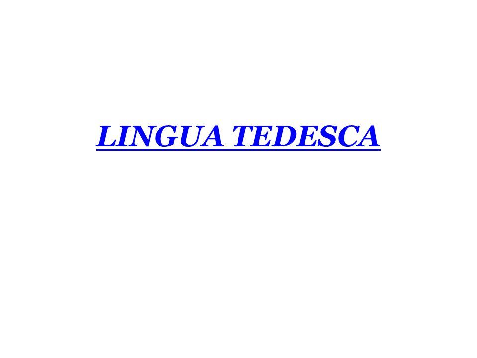 LINGUA TEDESCA