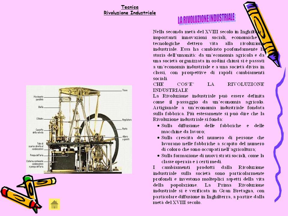 Tecnica Rivoluzione Industriale