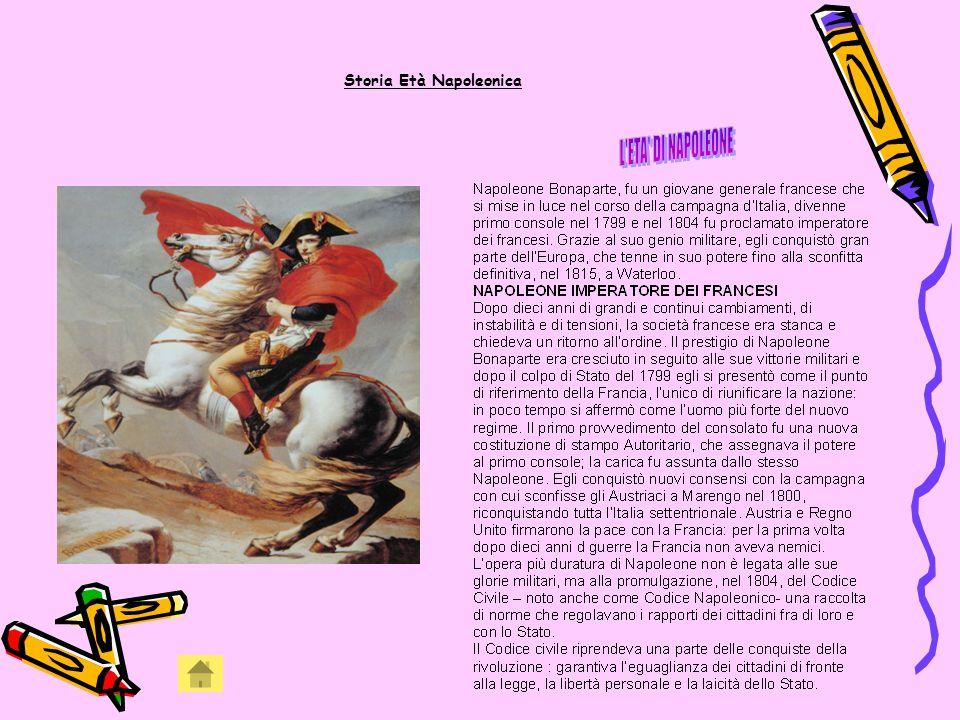 Storia Età Napoleonica