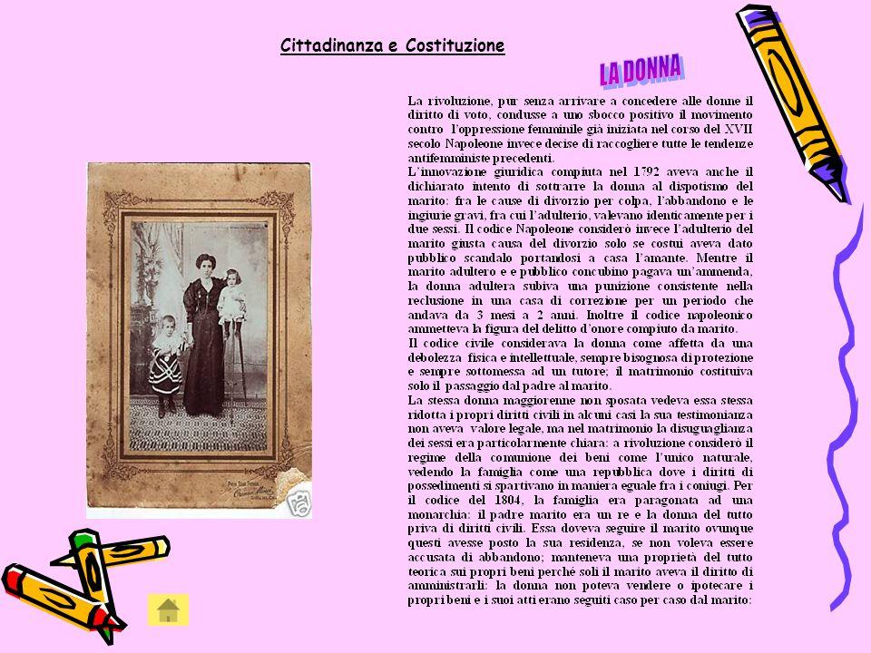 Articoli riguardante la famiglia e la donna nel Codice Napoleonico Art.