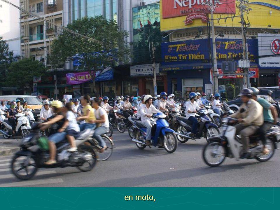 en vélo,
