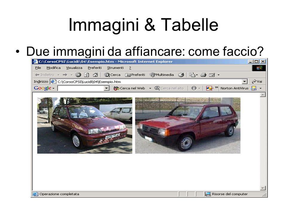 Immagini & Tabelle Due immagini da affiancare: come faccio?
