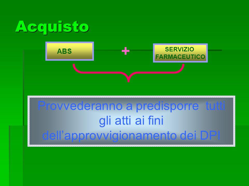 ABS SERVIZIO FARMACEUTICO Acquisto + Provvederanno a predisporre tutti gli atti ai fini dellapprovvigionamento dei DPI