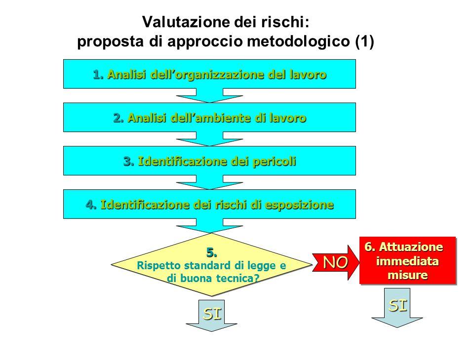 Valutazione dei rischi: proposta di approccio metodologico (1) 1.Analisi dellorganizzazione del lavoro 1.