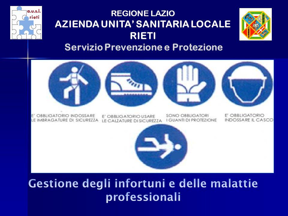 REGIONE LAZIO AZIENDA UNITA SANITARIA LOCALE RIETI Servizio Prevenzione e Protezione