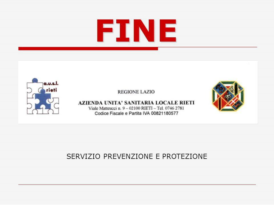FINE SERVIZIO PREVENZIONE E PROTEZIONE