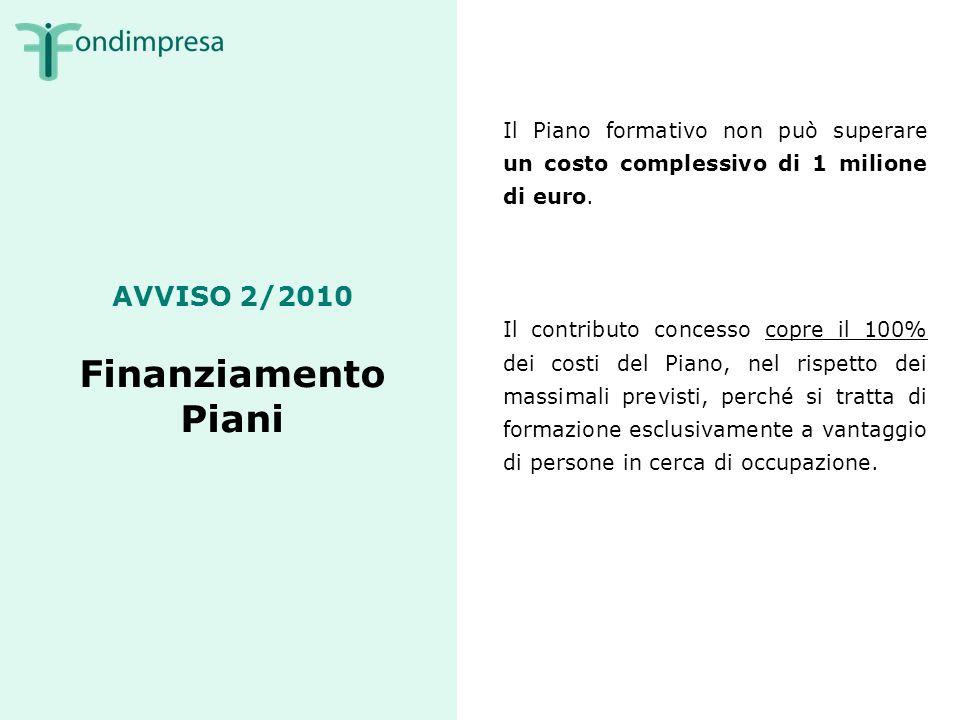 AVVISO 2/2010 Accordo Il Piano formativo deve essere promosso da un accordo fra organizzazioni territoriali di rappresentanza riconducibili ai soci di Fondimpresa.