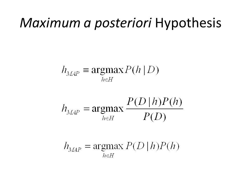 Maximum a posteriori Hypothesis