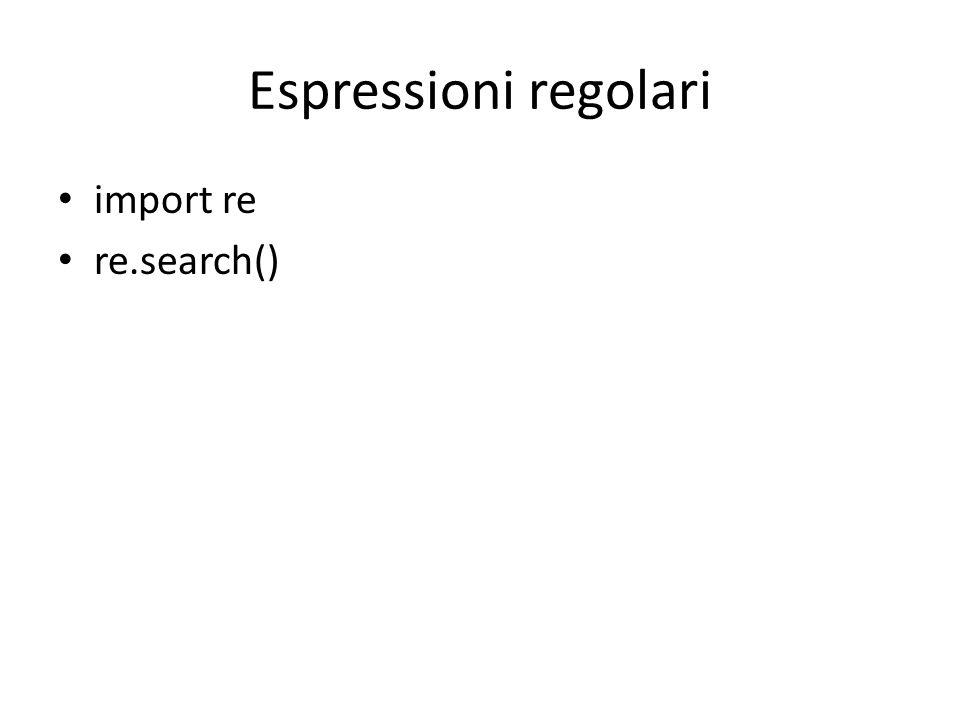 Normalizzazione e tokenizzazione usando espressioni regolari