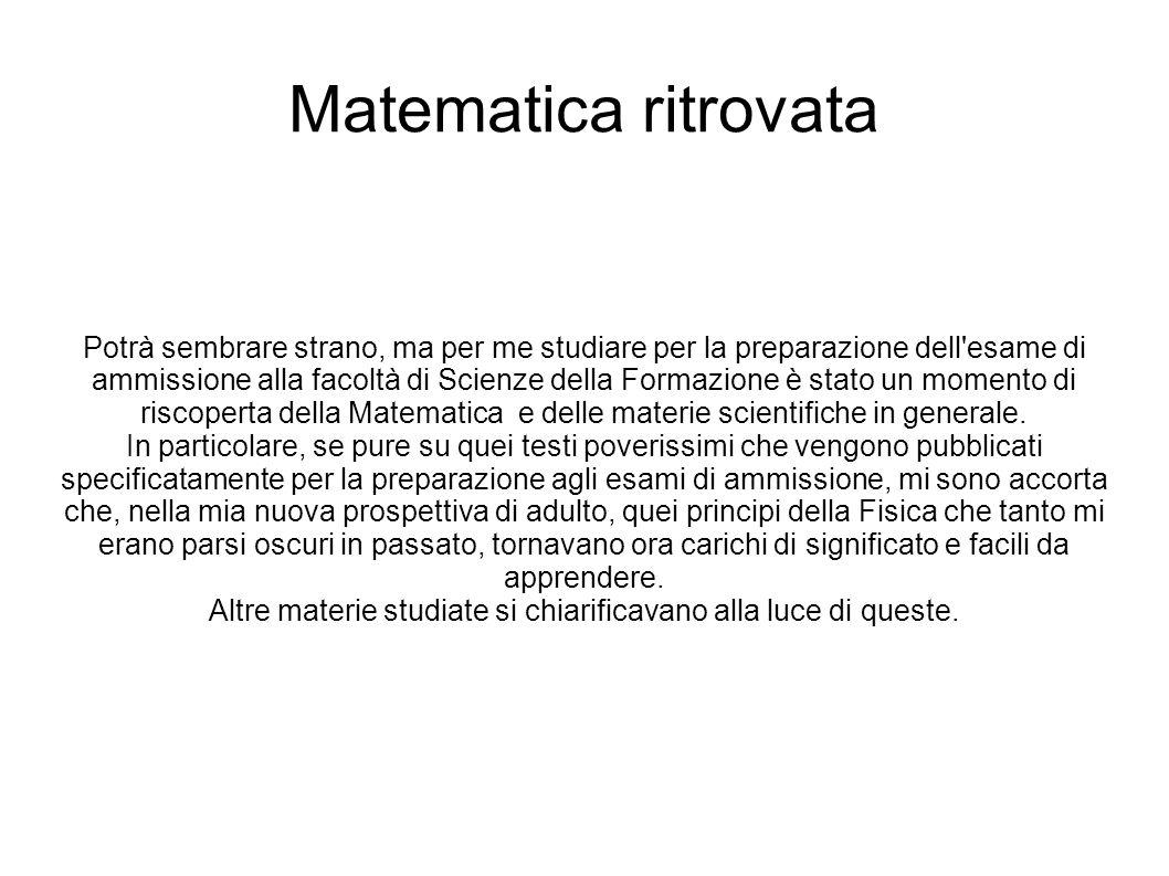 MATELSUP Sono quindi molto contenta di affrontare oggi la questione dell insegnamento della matematica nelle scuole.
