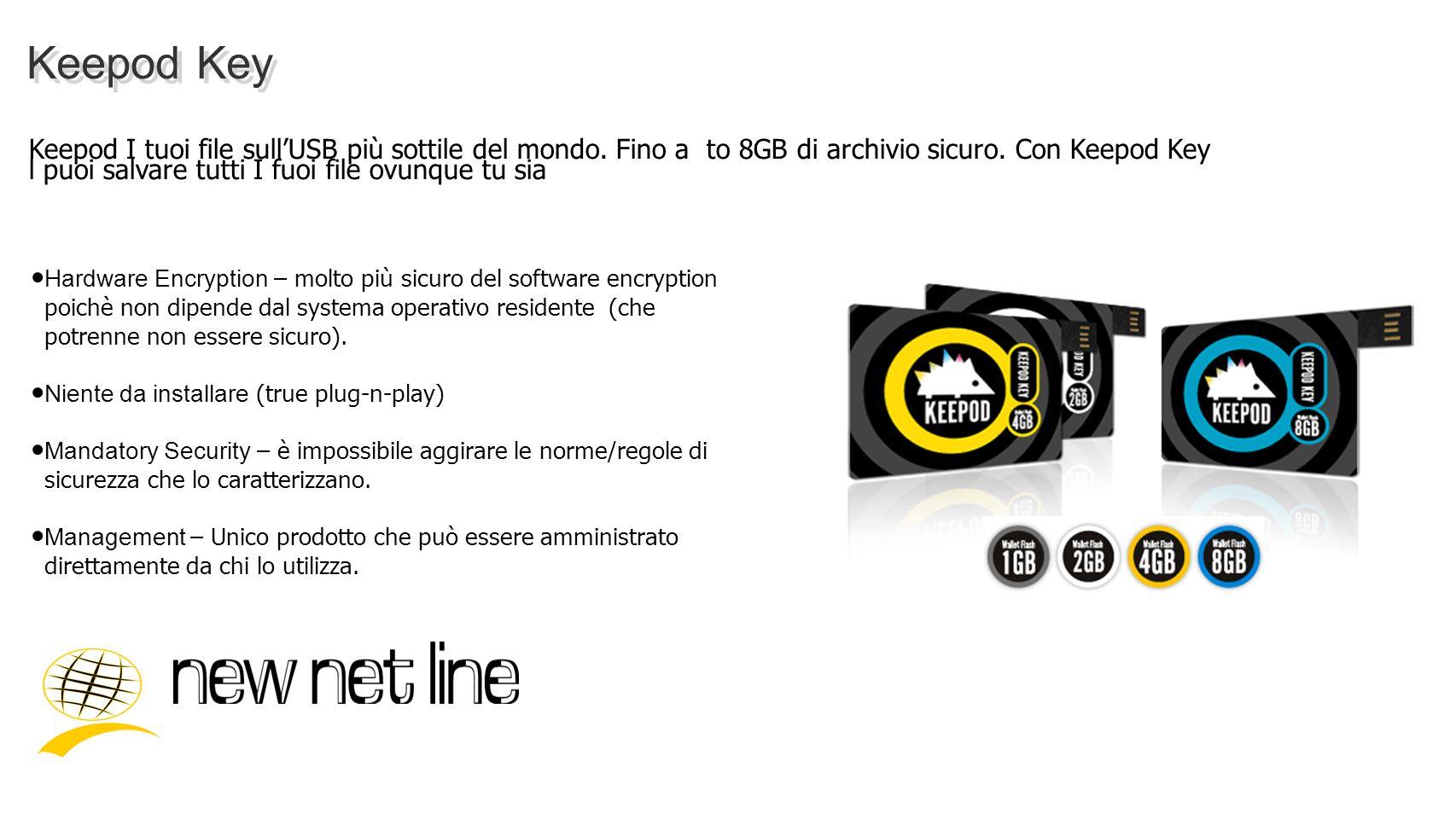 Keepod Key Keepod I tuoi file sullUSB più sottile del mondo. Fino a to 8GB di archivio sicuro. Con Keepod Key l puoi salvare tutti I fuoi file ovunque