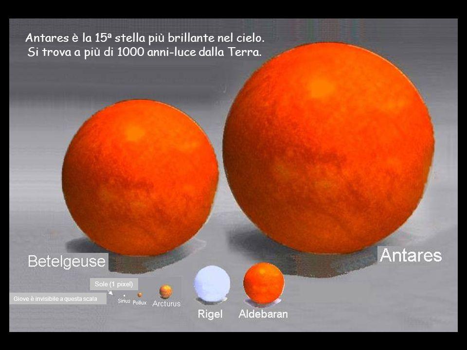 Antares è la 15 ª stella pi ù brillante nel cielo.