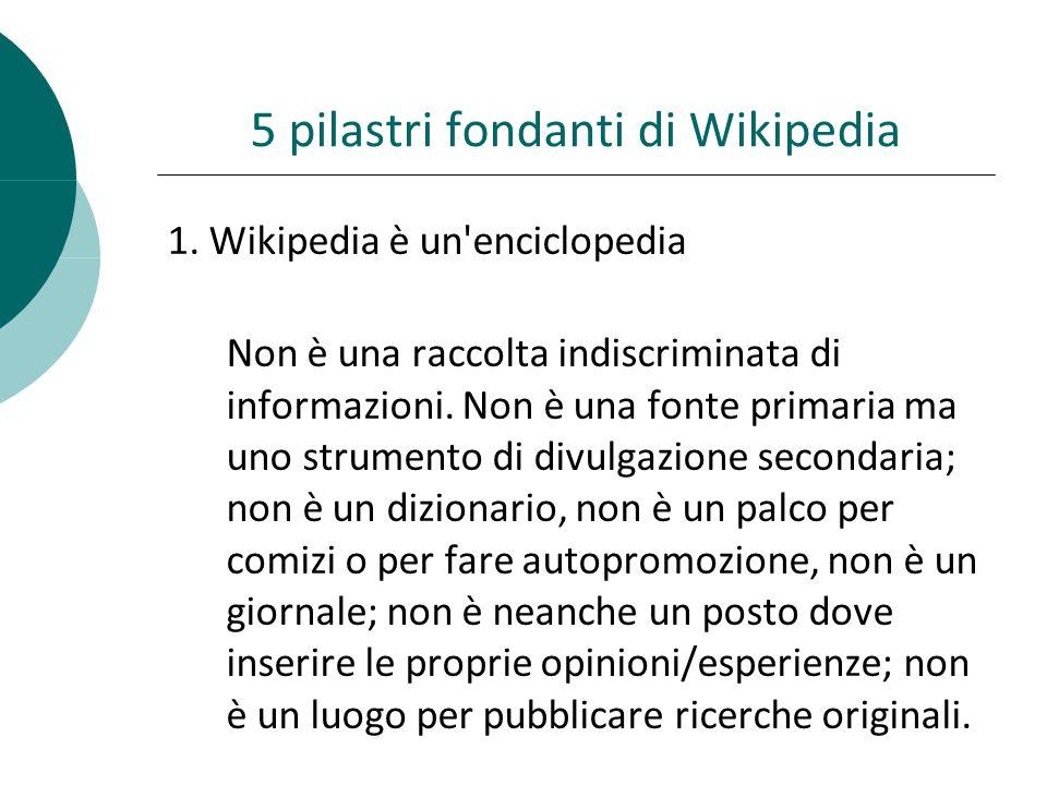5 pilastri fondanti di Wikipedia 1.