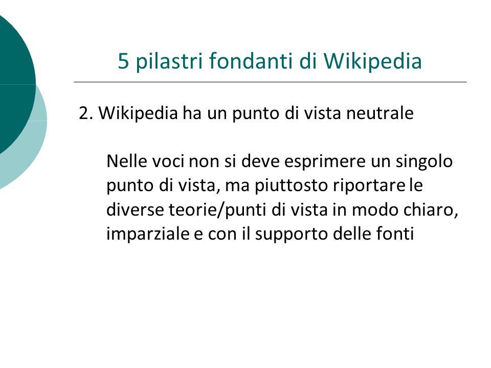 5 pilastri fondanti di Wikipedia 2.