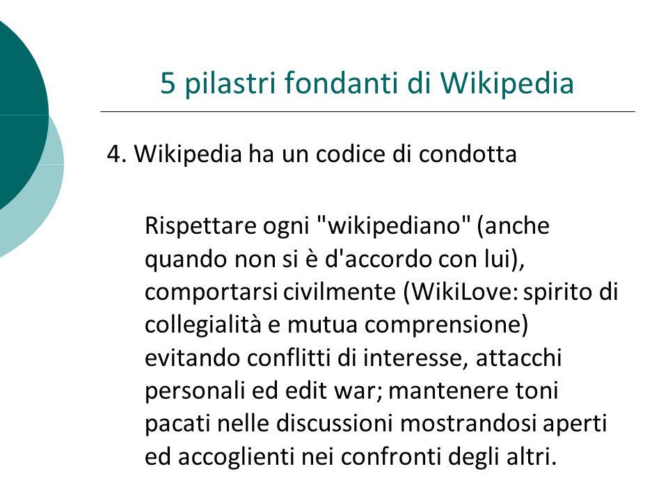 5 pilastri fondanti di Wikipedia 4.